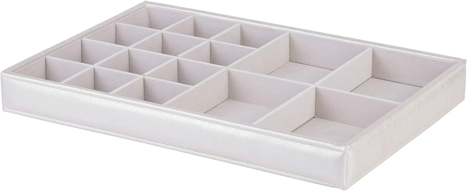 Richards Homewares Jewelry Storage Organizer Tray, 16-Compartment, Champagne