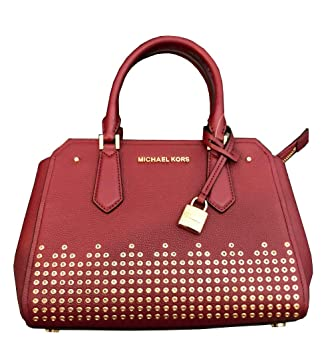 ... best price michael kors hayes medium studded leather messenger bag in  mulberry 4e116 3b5e6 3df27edf2b0ee