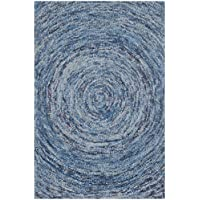 Safavieh Ikat Collection IKT633A Handmade Dark Blue and Multi Premium Wool Area Rug (3 x 5)