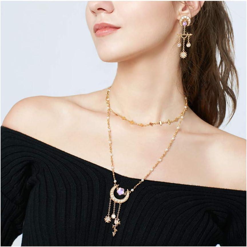 PandaHall 50pcs Fleur Lunette en Alliage avec Perles de Verre Connecteurs de Cha/îne pour la Fabrication de Bijoux de Bracelet de Collier