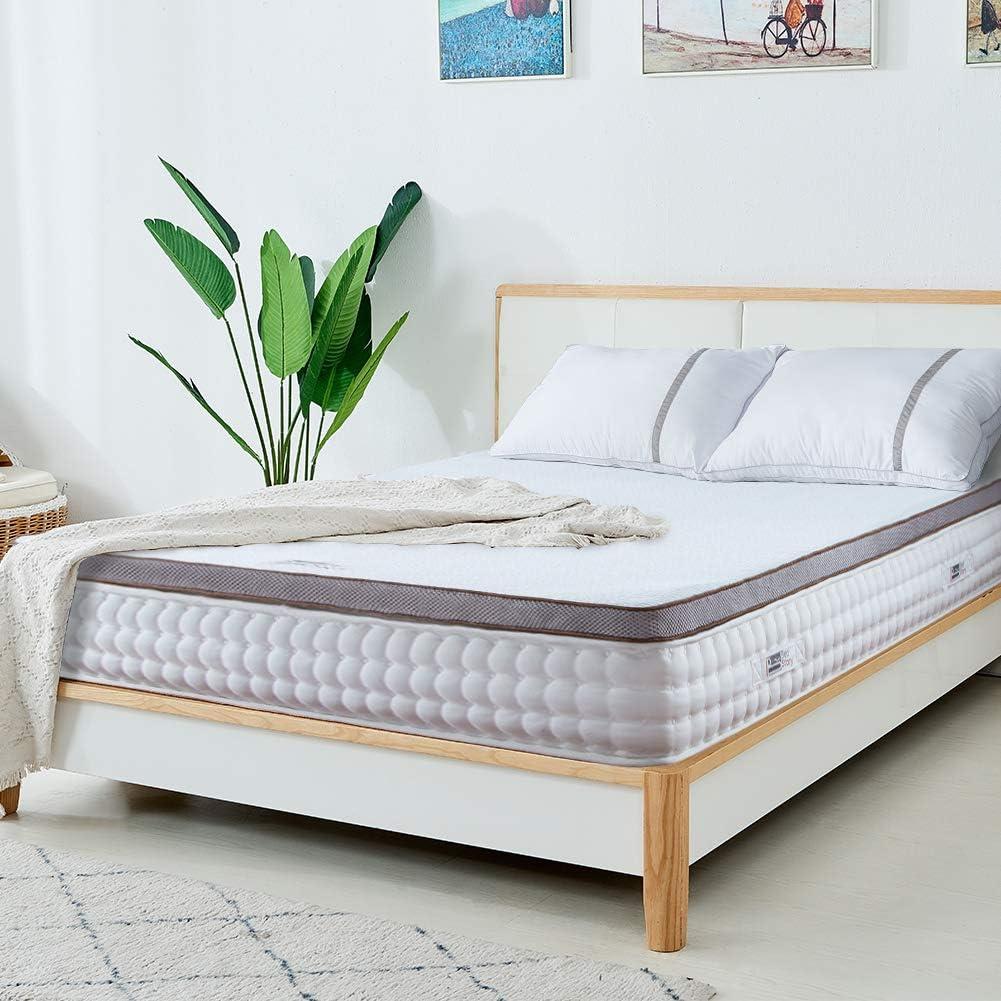 BedStory 3 Inch Topper, Gel Memory Foam Mattress Topper, 3 Year Warranty-Ventilated Design-King