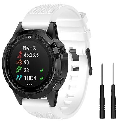 Cyeeson para Garmin Fenix 5 GPS Watch Reloj Watch Reemplazo Banda ...