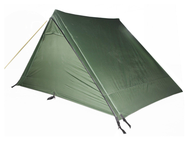 FIBEGA SilNylon Trail Tent   Tent  Outdoor Zelt, inkl. Zeltstangen, Abspannleinen & Hacken - olive a062ac