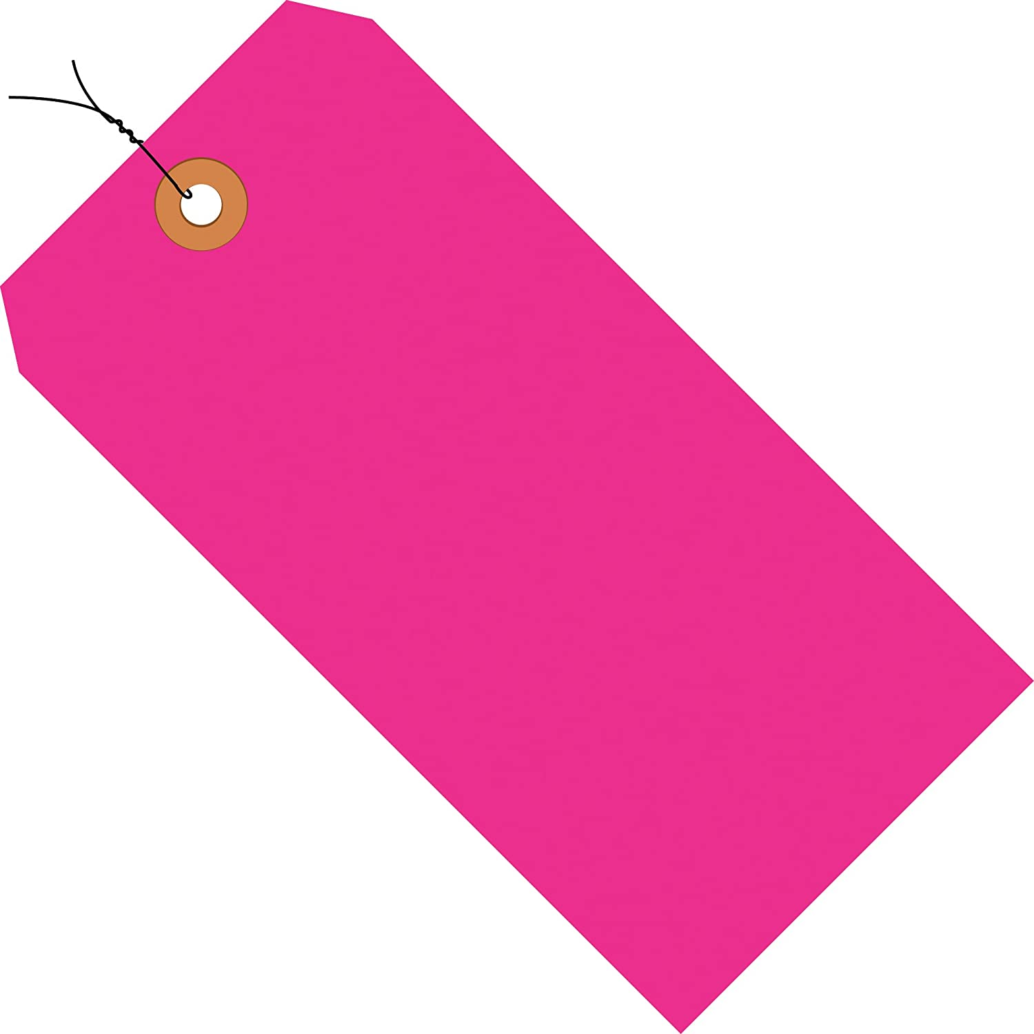 4 3//4 x 2 3//8 Fluorescent Pink Shipping Tags 13 Pt Wired Case of 1000 5,