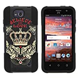 ZTE Maven Case, Dual Layer Shell STRIKE Impact Kickstand Case with Unique Graphic Images for ZTE Overture 2 ZTE Fanfare from MINITURTLE - Believe in Love