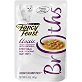Purina Fancy Feast Fancy Feast Broths for Cats, Classic, With Mackerel and Vegetables - (16) 1.4-Ounce Pouches
