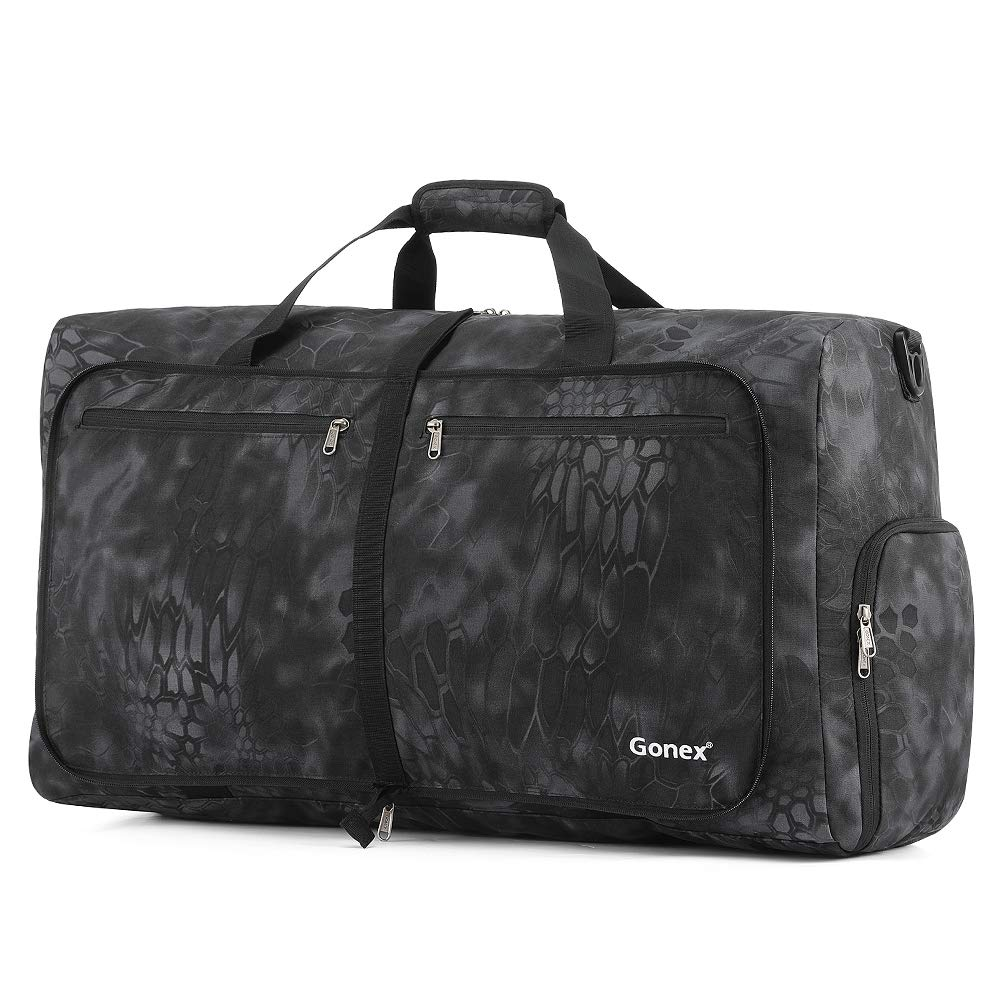 Gonex 80L Foldable Travel Duffle Bag for Luggage, Gym, Sport, Camping, Storage, Shopping Water Repellent & Tear Resistant(Typhon)