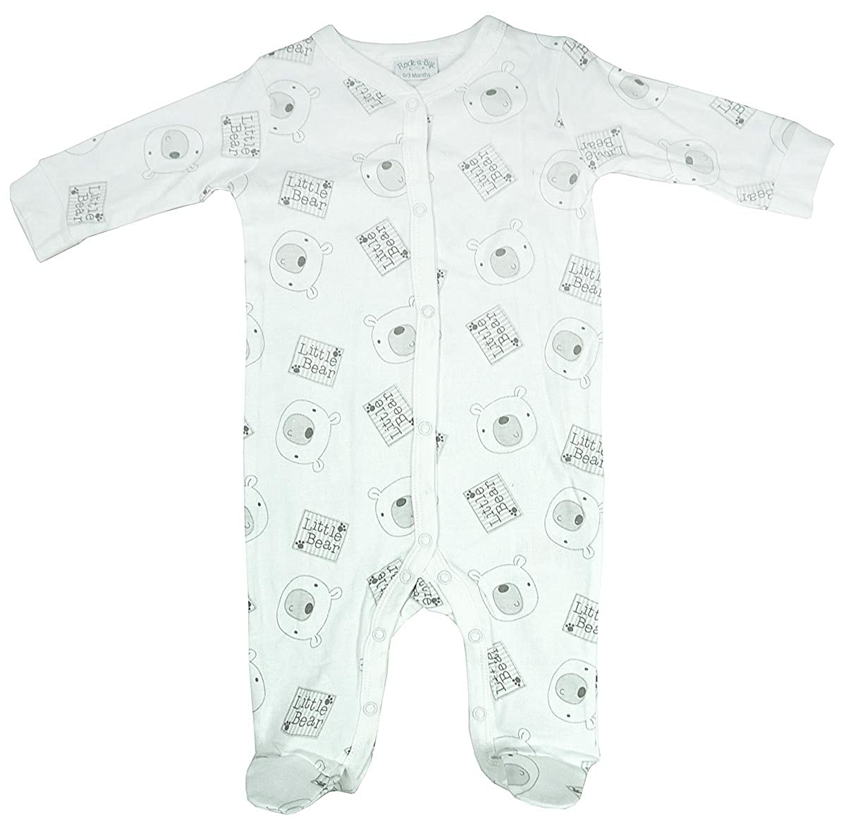 Boys Baby Pack of 2 Bear Moon Stars Sleepsuit Cotton Rompers Sizes from Newborn to 9 Months