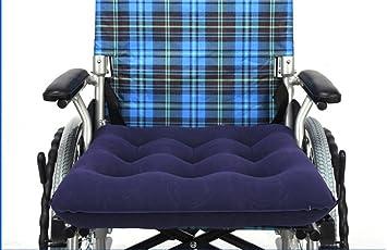 MF@SQY - Cojín inflable para silla de ruedas médicas, ideal para sentarse durante 48 x 48 cm: Amazon.es: Salud y cuidado personal