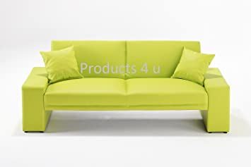 Pleasant Lime Green Faux Leather Supra Sofa Bed Amazon Co Uk Download Free Architecture Designs Scobabritishbridgeorg