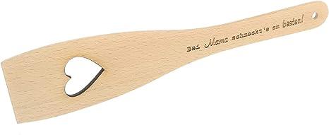 Pfannenwender; mit Herz 30 cm aus Holz