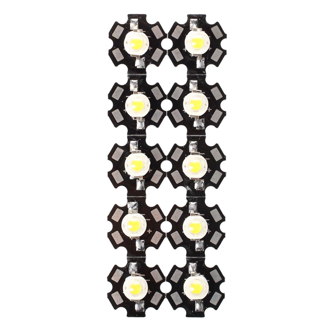 SODIAL(R) 10pcs. 3W haute puissance blanc chaud LED Lumiere Ampoule Lampe