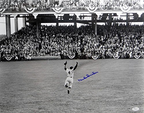 Duke Snider Signed Photograph - LA 16x20 Cheering - JSA Certified - Autographed MLB Photos ()