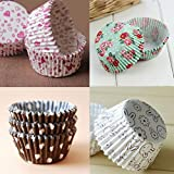 100PCS/Bag Paper Cake Cup Liners Baking Cup Muffin Kitchen Cupcake Color Randomly For Kids Birthday Party
