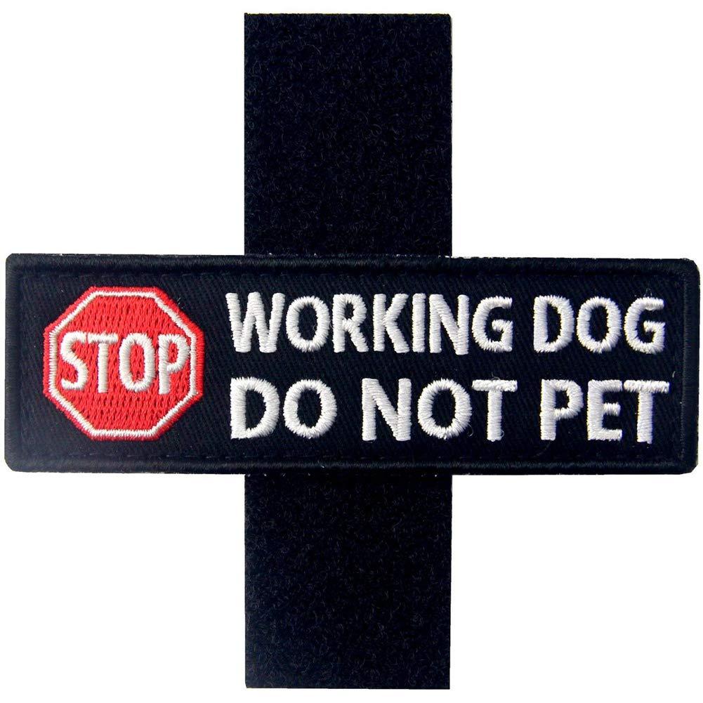 Service Dog Working Do Not Pet Warning Vests//Harnesses Patch Embroidered Badge Fastener Hook /& Loop Emblem