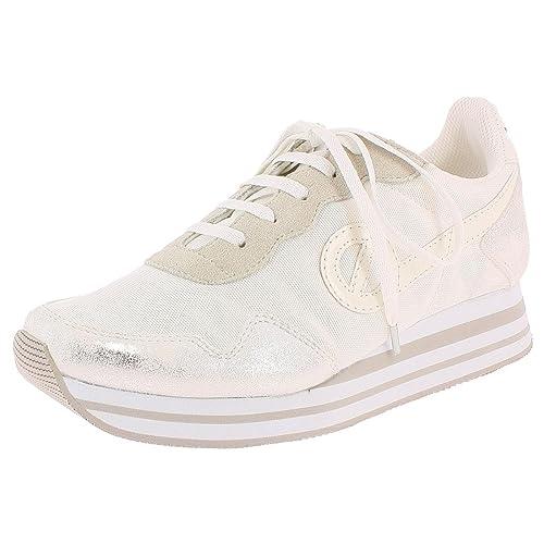 No Name - Zapatillas de deporte para mujer, blanco (blanco), 38 EU: Amazon.es: Zapatos y complementos