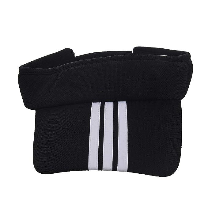 a25f2b2ed09 SODIAL Sports Tennis Golf Sun Visor Hat Hats Adjustable Plain Bright Color  Men Women black