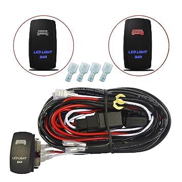 mictuning LED Light Bar Verkabelung Taschen zum Aufwärmen der 40 Amp ...