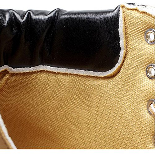 Highdas Women Boots Combat Patrol Boots - Martin Army Tactical Worker Boots Ankle Outdoor Hiking Shoes Yellow u6TfXJ