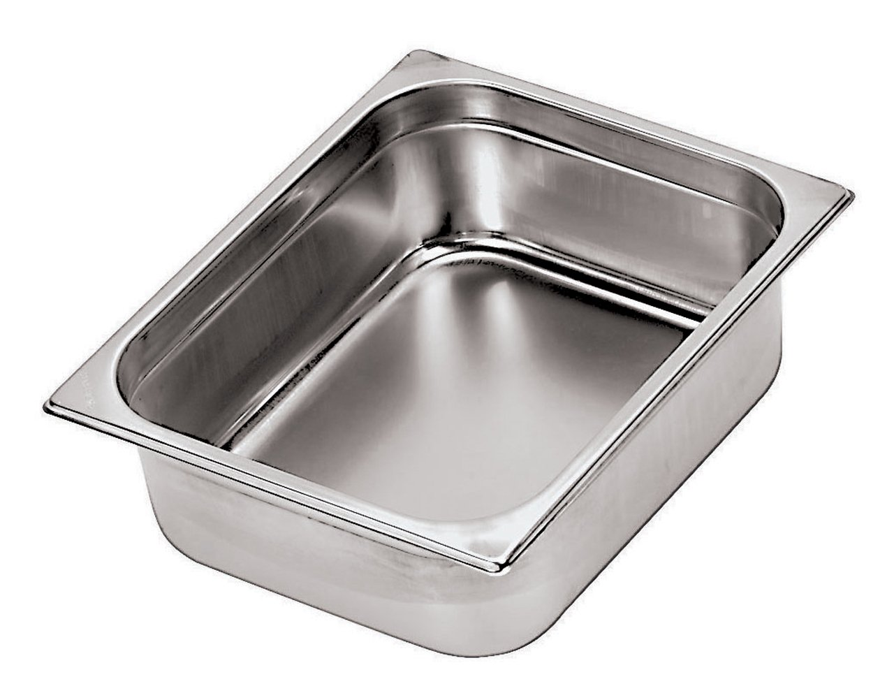 Paderno World Cuisine 12 3/4 inches by 6 1/4 inches Stainless-steel Hotel Pan - 1/4 (depth: 2 1/2 inches)