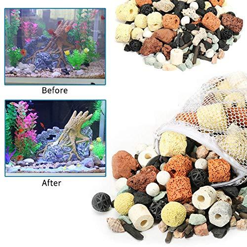 KOBWA - Anillos de cerámica para Acuario con Filtro de Tanque de Peces, 500 g: Amazon.es: Productos para mascotas