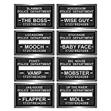 Party Central Club Pack of 12 Speakeasy 20's Style Mugshot Fun Photo Signs 10.5''