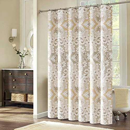 Inn Bed Hampton (European Court Style Polyester Fabric Waterproof/Water-Repellent Shower Curtain 94 x 79 inch approx)