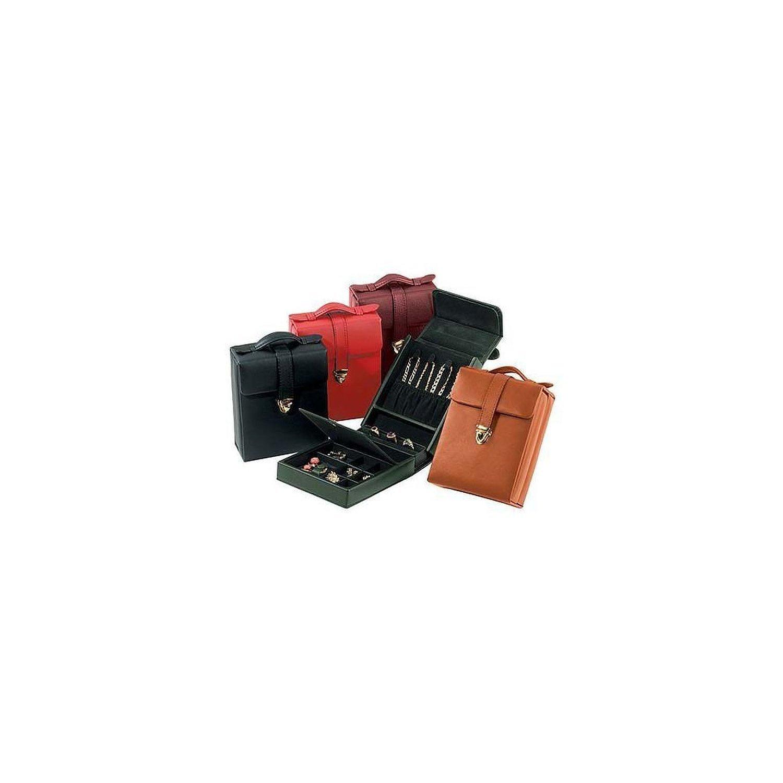 Royce Leather Ladies Pocketbook Jewelry Case - Black