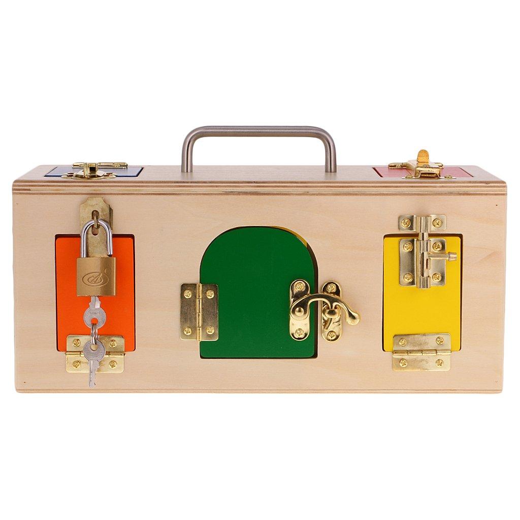 entrega gratis FLAMEER Montessori de Madera Práctico Cajita de Bloqueo Juguetes Juguetes Juguetes Niños Educación Infantil  distribución global