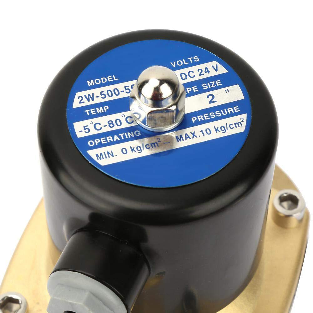 DN50 Electrovanne /Électrique DC24V 1.6MPA Vanne Electromagn/étique en Laiton Normalement Ferm/ée pour le Gaz