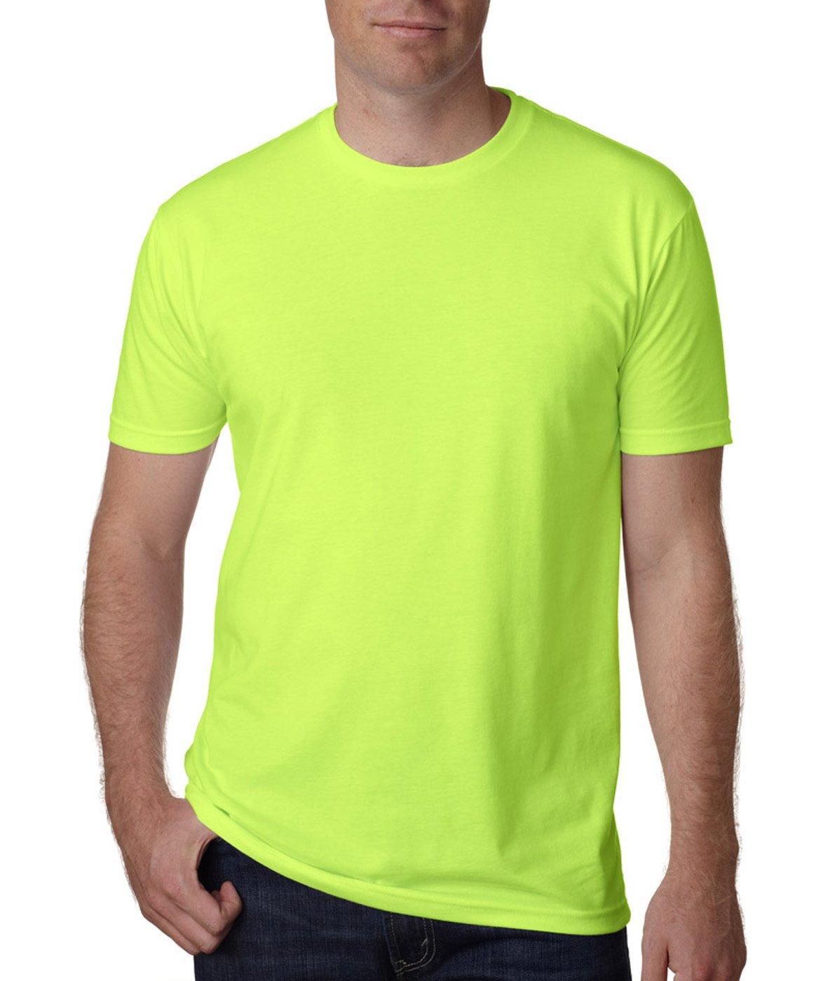 Next Level Apparel メンズ CVC クルーネック ジャージ Tシャツ B014WDENXA L|ネオンヘザーグリーン ネオンヘザーグリーン L