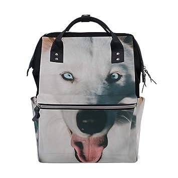 Amazon.com: Wolf perro mascota Husky pañales bolsas grande ...
