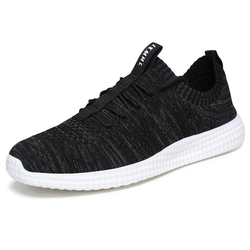 MUOU Schuhe Herren Sneaker Atmungsaktive Freizeitschuhe Lace-Up Mauml;nner Turnschuhe Mesh Wohnungen Laufschuhe  39 EU|Schwarz
