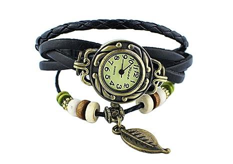 FormVan originales relojes de las mujeres de la vendimia, pulsera pulsera de la hoja colgante