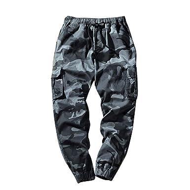 Outdoor Pantalones Bolsillo De Camuflaje Pantalones Nueve ...