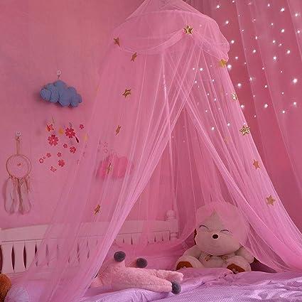 Letto A Baldacchino Rosa.Casa Tenda Zanzariera Per Ragazze Della Camera Dei Bambini Tenda