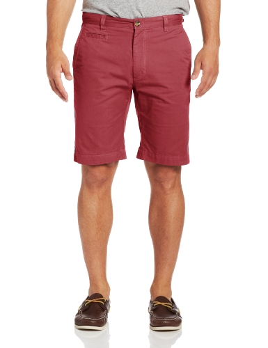 Louis Raphael Men's Khakis Piece Dye Gabardine Slim Fit Short, Nantucket Red, 34W - Louis Mens Shorts