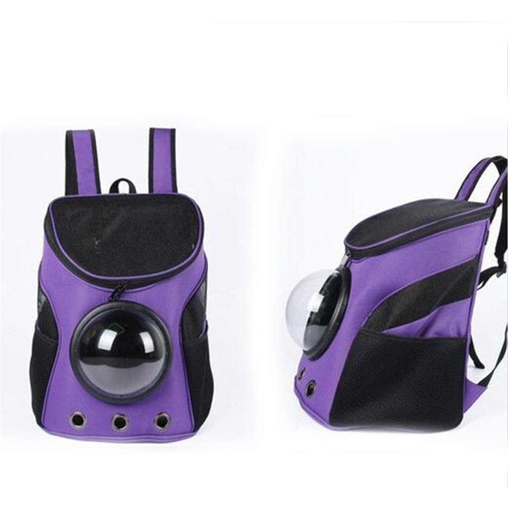 Purple Studyset Pet Backpack Breathable Capsule Space Capsule Carrier Bag Hiking Bubble Backpack for Cat Dog Puppy Small Animals