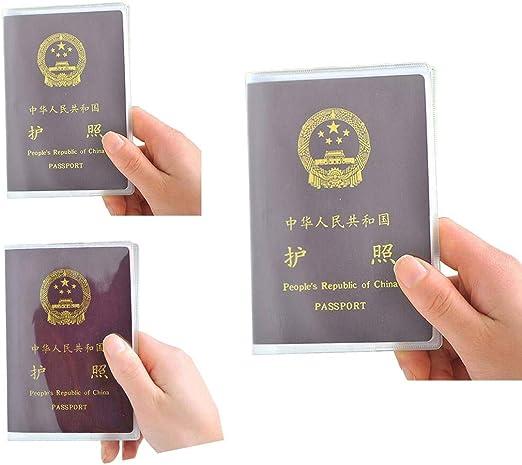 GFCGFGDRG 10PCS Passport Housse de Protection en PVC Transparent en Plastique /étanche ID Card Protector Case