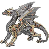 Nemesis Now - Statuetta Dracus Machina, 21 cm, 25 cm, Colore: Argento