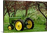 Canvas On Demand Premium Thick-Wrap Canvas Wall Art Print entitled Restored 1940 John Deere model tractor 24