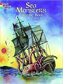 sea monsters coloring book dover coloring books - Dover Coloring Books