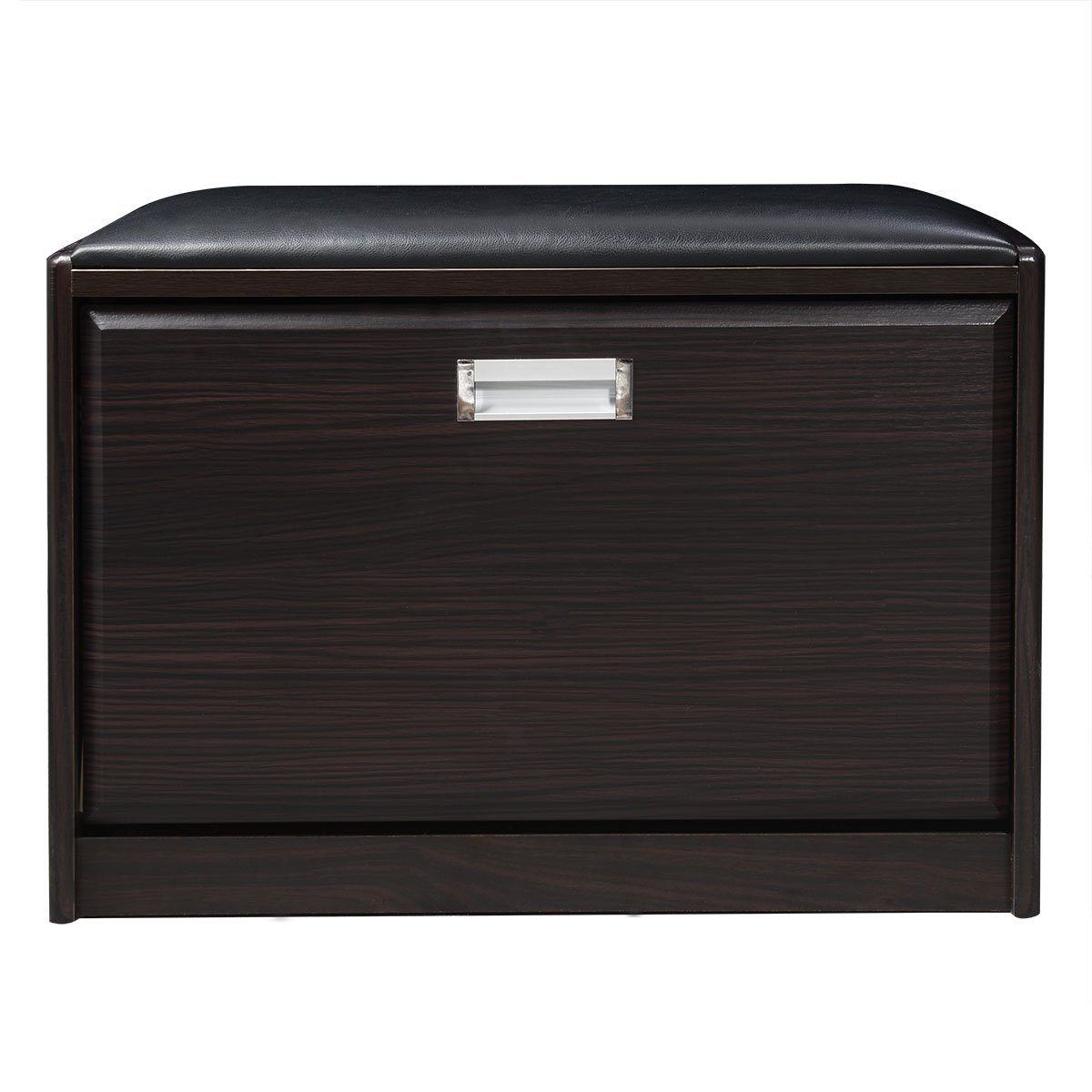 New deluxe shoe storage cabinet closet wooden ottoman bench seat rack - Fds Wooden Shoe Seat Cabinet Ottoman Bench Entryway Hallway Shoe Storage Black Amazon Co Uk Kitchen Home