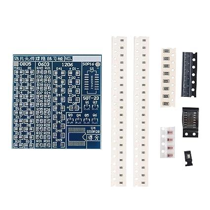 SMT SMD Component Welding Practice PCB Board Soldering Plate DIY Suite Kit
