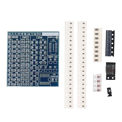Jiayuane Placa de práctica de soldadura de componentes SMT SMD Placa de cocina de PCB Kit