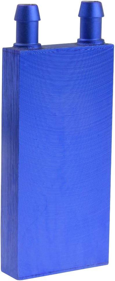 BXQINLENX Aluminum Water Cooling Block for CPU Graphics Radiator Heatsink 40x 80mm Blue
