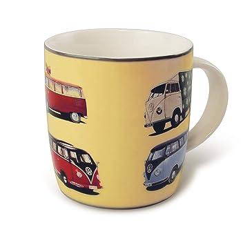 7709be32658 Brisa VW Collection Kaffeetasse mit VW Bulli T1 Motiv (Gelb/Bulliparade)