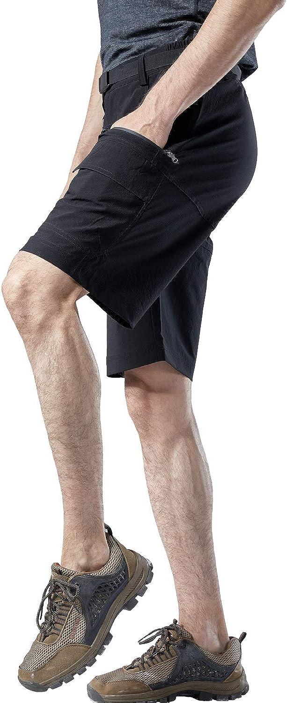 Mr.Stream de Randonn/ée Homme Short de Sport Respirant dext/érieur S/échage Rapide Poids L/éger Cargo Bermuda descalade Multi-Poches Shorts
