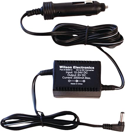 6V DC Car Charger For Wilson Phone Signal Booster 801212 801245 841245 801201