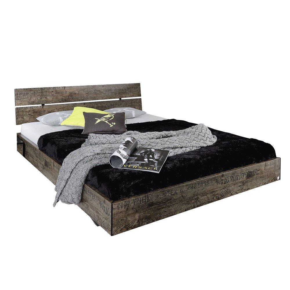 Rauch Sumatra Futon Bed And Vintage Look Brown Liegeflache Ca